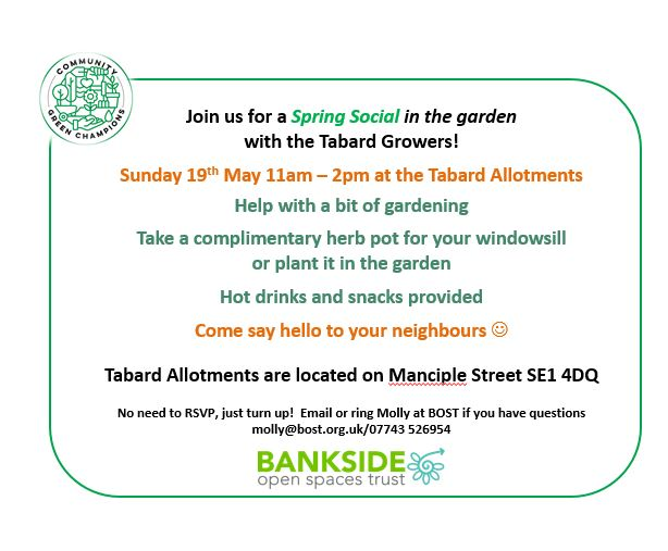 Tabard Allotments social_flyer